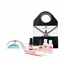 "Set Inicial Natural Nail Boost Gel ""Clear"" + Light Unit"
